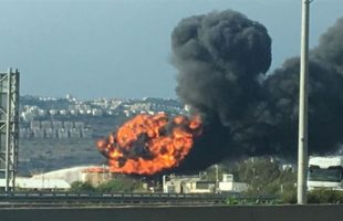 Huge blaze in Haifa