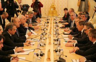 Trilateral meeting between Iran, Russia & Turkey FMs