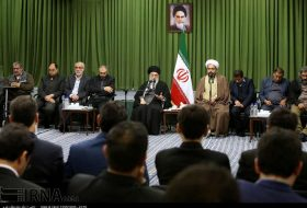 Leader receives religious poets