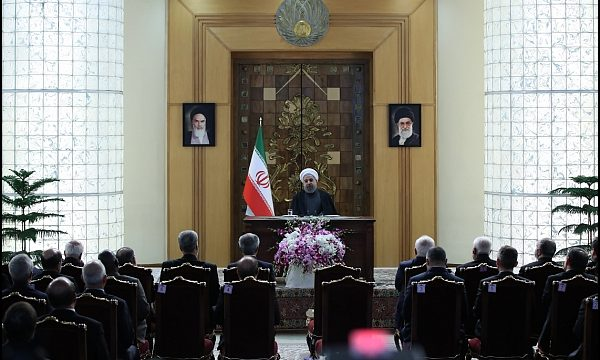 Rouhani meets foreign ambassadors