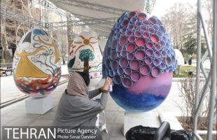 Giant Eggs Coloured ahead of Nowruz