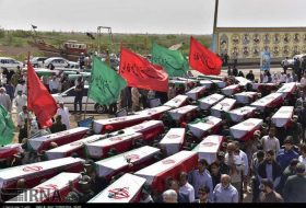 Bodies of Iranian martyrs arrive home