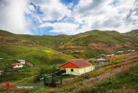 Asalem-Khalkhal Road in Northern Iran
