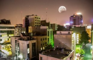Partial lunar eclipse observed across Iran
