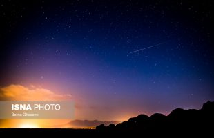 Perseids meteor shower in Iran central deserts
