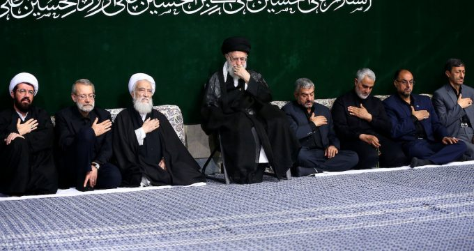 Ayat. Khamenei attends a Muharram mourning ceremony on the night of Ashura