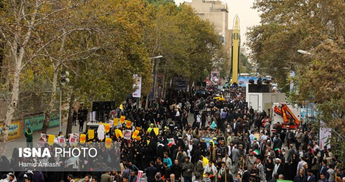 Iranian people mark day of fight against global arrogance