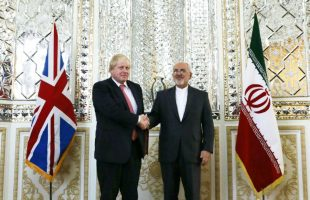 Javad Zarif & Boris Johnson
